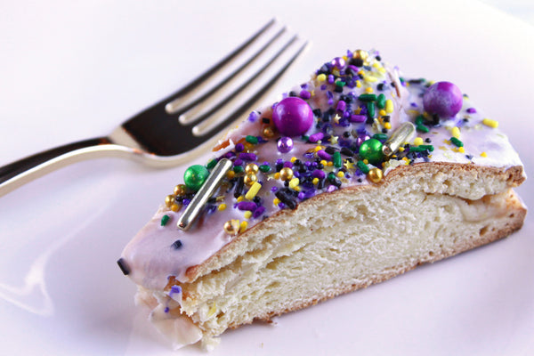 Mardi Gras King Cake With Sprinkles