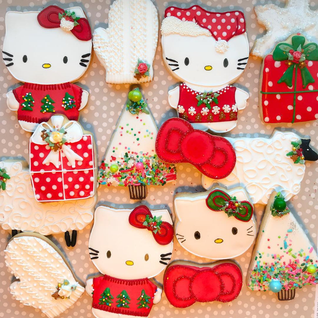 My Little Kitty Christmas Cookies with Sprinkles