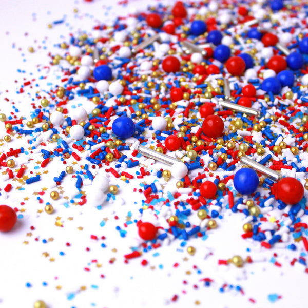 Patriotic Fourth of July Sprinkles