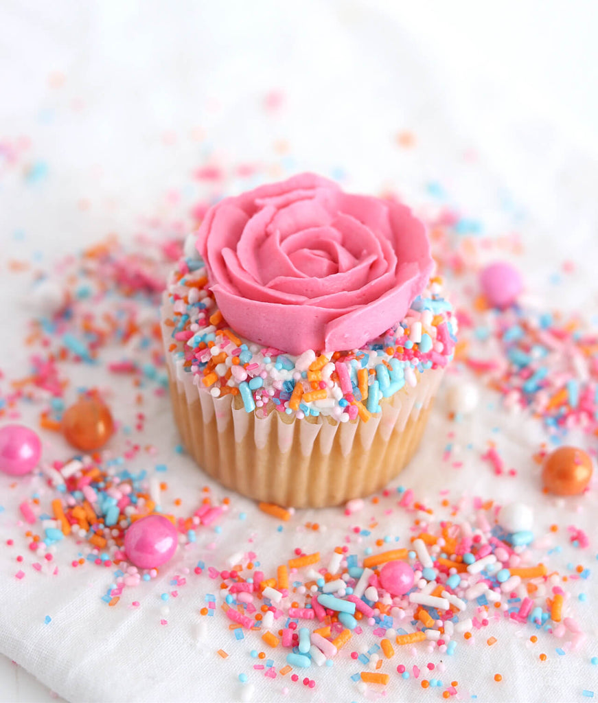 buttercream rose cupcake tutorial