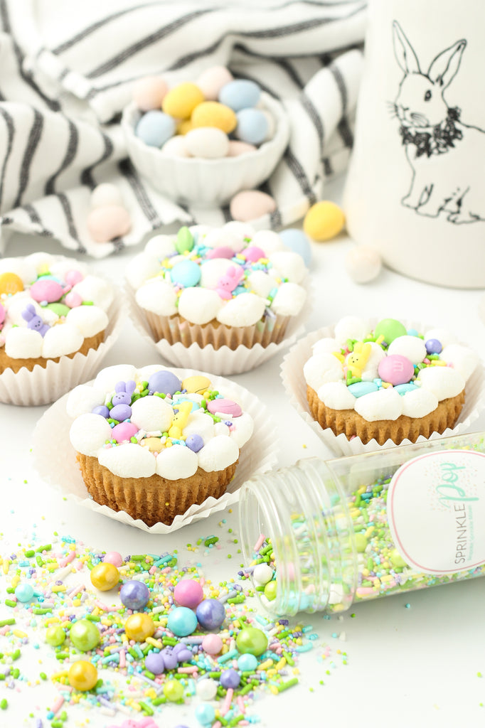 Easter cookie cups with marshmallows