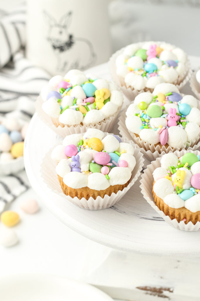 Easter cookie cups in muffin tins