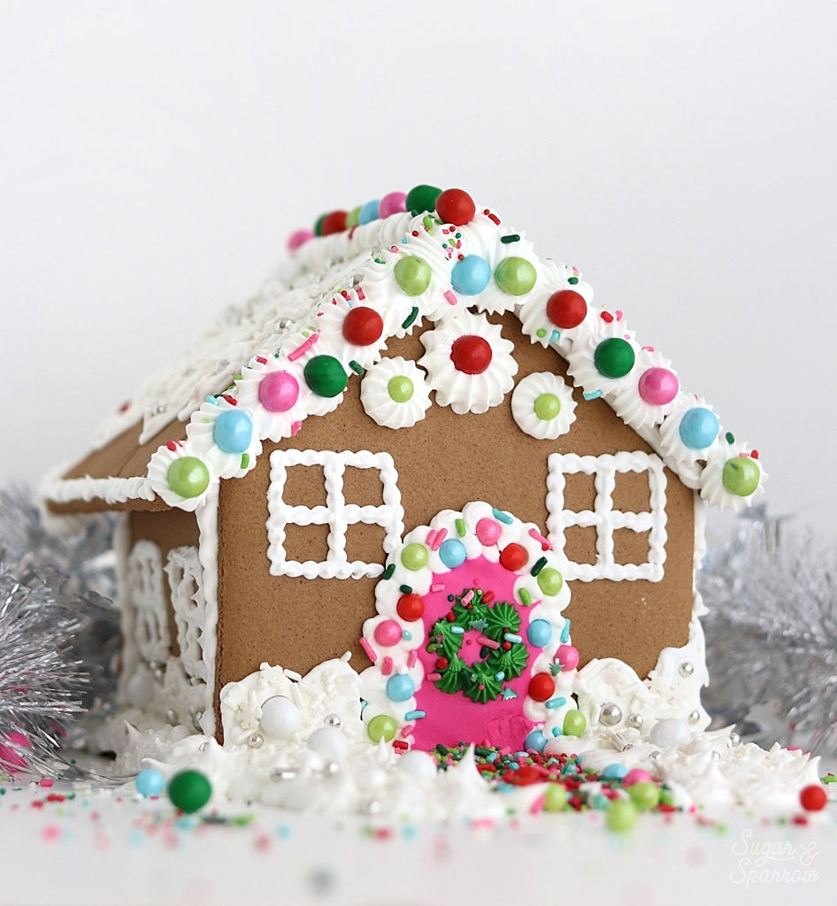 Pink and Green Sprinkle Gingerbread House Kit