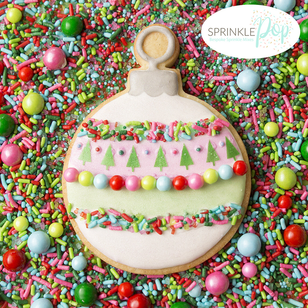 Christmas Ornament Cookie with Sprinkles