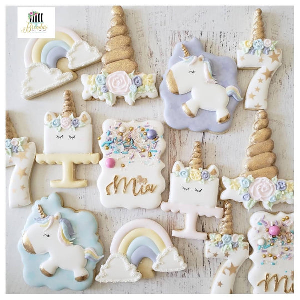 Unicorn Birthday Cookies with Unicorn Sprinkle Mix