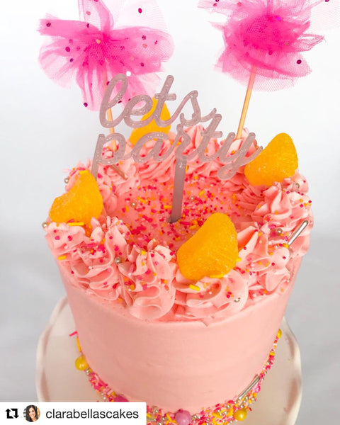 Strawberry Lemonade Cake with Pink Lemonade Sprinkle Mix