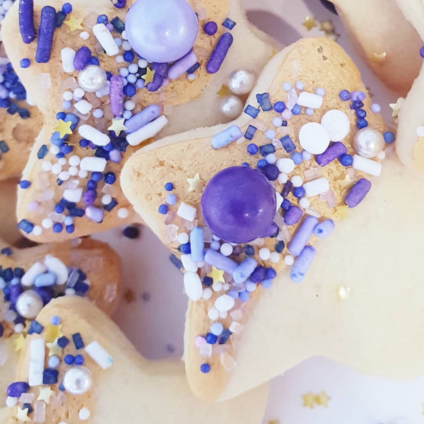 Star Cookies with Perfectly Purple Sprinkle Mix