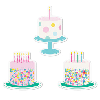 Birthday Cake Edible Cupcake Toppers