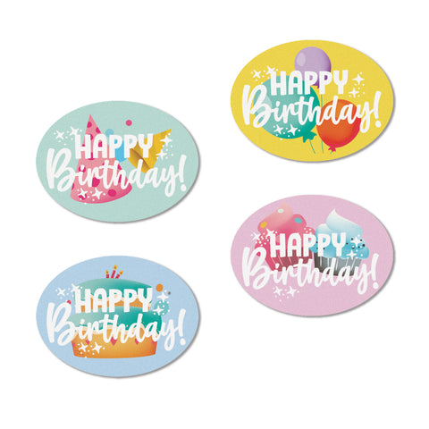 Happy Birthday Edible Cupcake Toppers