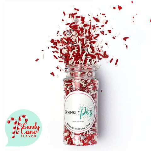 Candy Cane Flavored Sprinkles