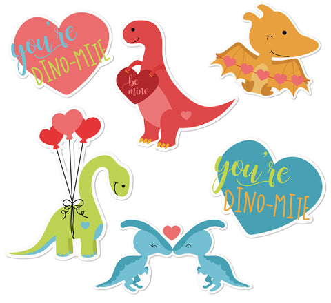 Dino-Mite Love Edible Cupcake Toppers
