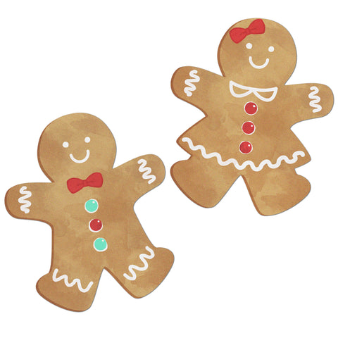 Gingerbread People Edible Cupcake Toppers