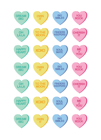 Sweet Conversation Hearts