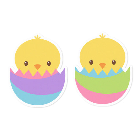 Easter Chicks Edible Cupcake Toppers