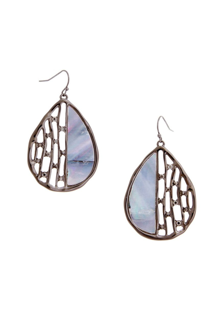 BLUE REFLECTIONS TEARDROP EARRINGS