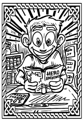 Free Coloring-Page-Style Bookmarks