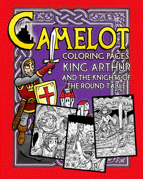 King Arthur and the Knights of the Round Table Coloring Pages