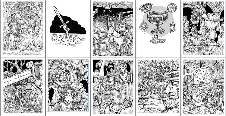 King Arthur and the Knights of the Round Table Coloring Pages ...
