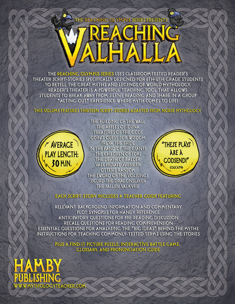 Reaching Valhalla:  Tales and Sagas from Norse Mythology (Digital Student Copy + Usage Rights for Digital Classrooms)