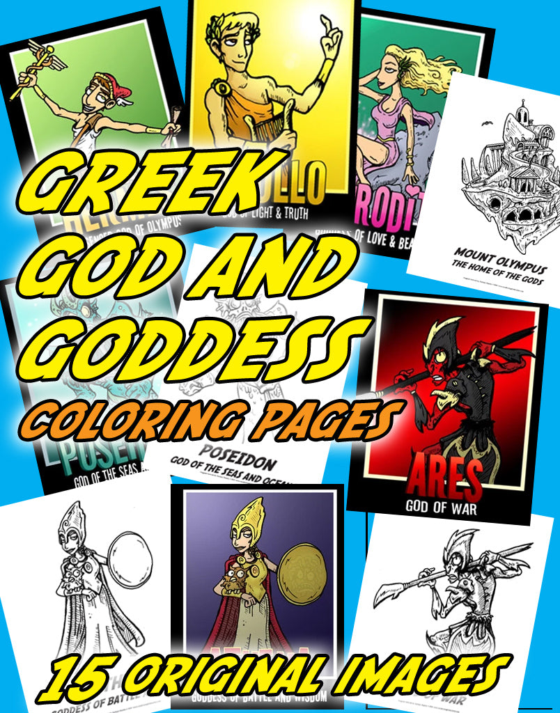 Greek God and Goddess Coloring Pages