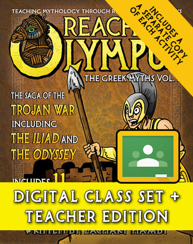 Reaching Olympus:  The Saga of the Trojan War and the Odyssey (Digital Class Set)