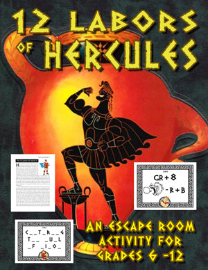 12 Labors of Hercules Escape Room Puzzle Game
