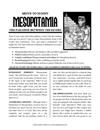 Mesopotamia Brochure: Move To Sunny Mesopotamia