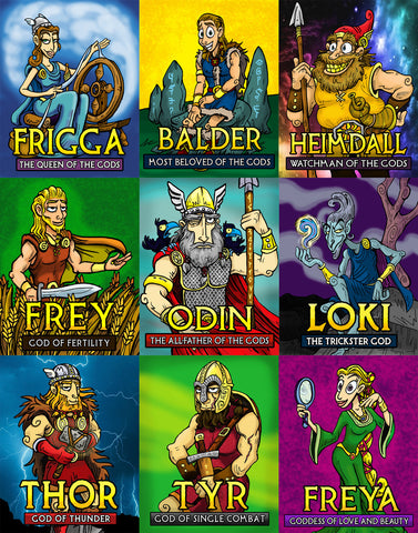 Norse Mythology God and Goddess Posters (Free Shipping)
