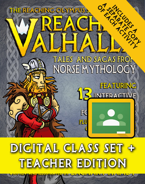 Reaching Valhalla:  Tales and Sagas from Norse Mythology (Digital Class Set)