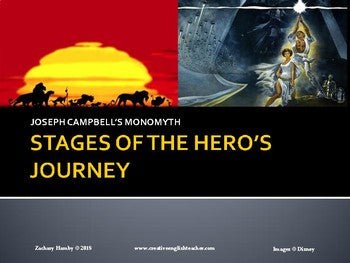The Hero's Journey and Character Archetypes Presentations and Worksheets Bundle