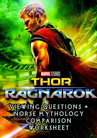 Thor: Ragnarok (Viewing Guide + Norse Mythology Worksheets)