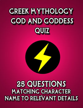 Greek God and Goddess Quiz