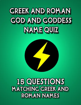 Greek-Roman God and Goddess Name Quiz
