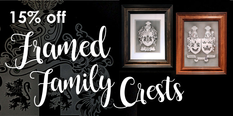 Framed Family Crest Sale