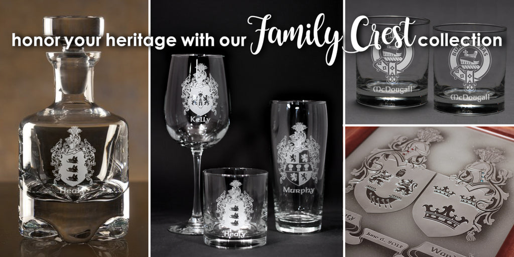family crest glassware gifts