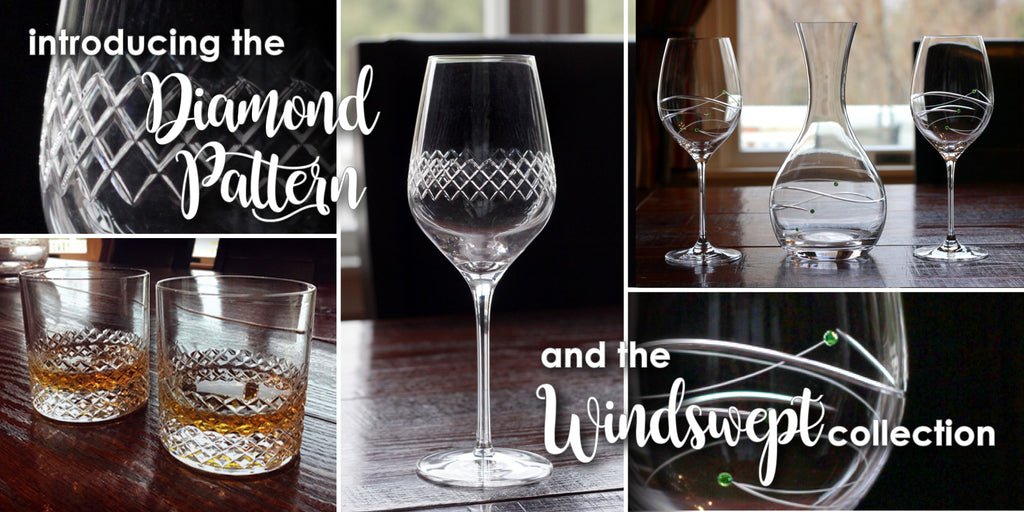 diamond and windswept irish glassware collections