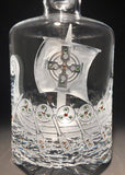 Viking Ship Footed 32 oz. Decanter