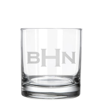 Monogrammed Whiskey Glass