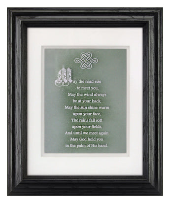 Irish Blessing — Framed Hand-Carved Fine Art Glass