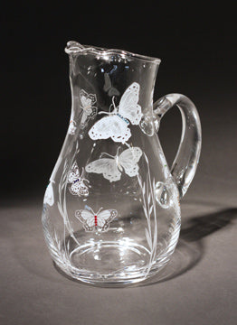 Butterfly Crystal Pitcher