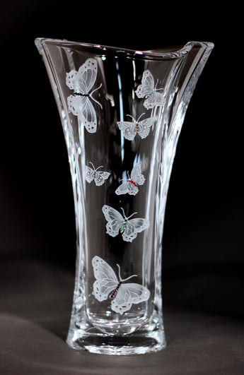 Butterfly Flared Wave Vase