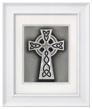 Celtic Cross — Framed Hand-Carved Fine Art Glass