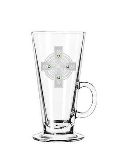 Celtic Shield Irish Coffee Glass