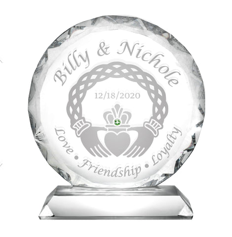 Claddagh Faceted Cake Topper