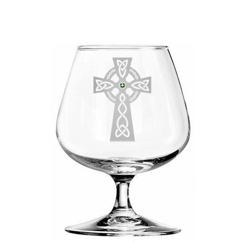 Celtic cross brandy glass