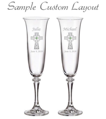Custom Healy Signature Champagne Flutes (Set of 2)