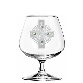 Celtic Shield Brandy Glass