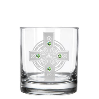 Celtic Shield Whiskey Glass