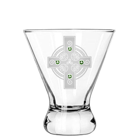 Celtic Shield Modern Cocktail Glass