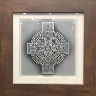 Celtic Shield 12x12 in a Modern Frame*